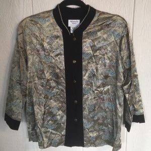Naturally Yours Oriental Print Blouse Size M